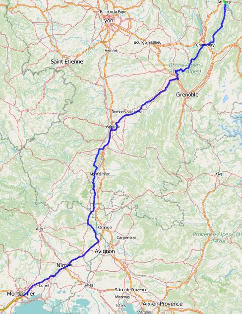 Tourtag 3 - Annecy nach Montpellier