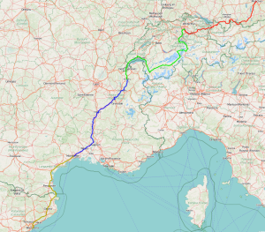 1660 Kilometer in einem Blick