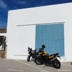 Motorräder auf Salz Tour