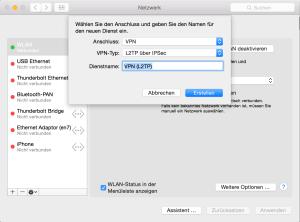 VPN auf dem Mac