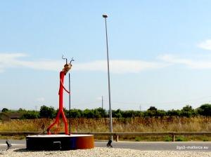 Teufel Kreisverkehrkunst Santa Margalida