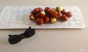 Keramikplatte mit Ginjols