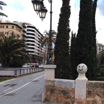 Übergang zum Plaça de la Porta de Santa Catalina