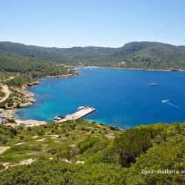 Bucht von Cabrera von oben