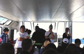 Die Organisatoren von instabalears auf dem Boot