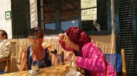 Kaffee im einzigen Cafe der Insel Cabrera