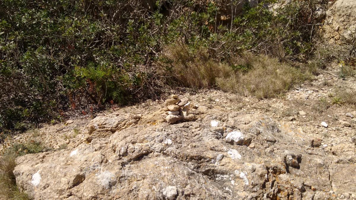 Steintürmchen auf Cabrera