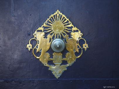 Sóller Wappen am Kirchenportal
