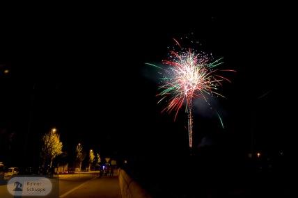 Auftakt zum Feuerwerk Santanyí