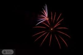 Feuerquallen der angenehme Art - beim Feuerwerk