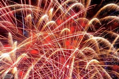 Das grosse Finale - hier wird nochmal alles aufgefahren beim Feuerwerk in Santanyi