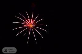 Neonreklame oder Feuerwerk?