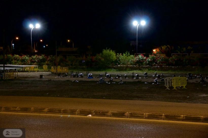 Raketen in Santanyi Mallorca beim Feuerwerk