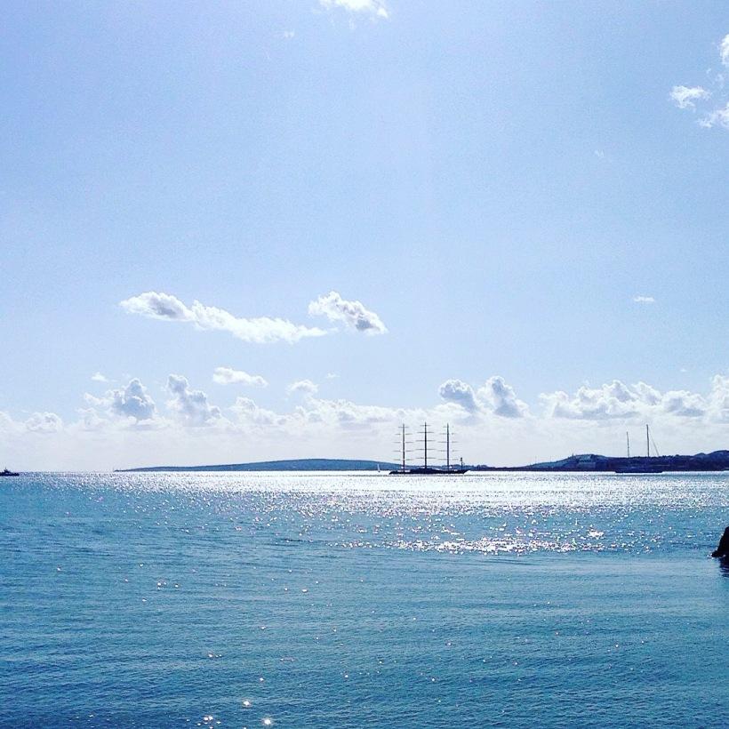 Maltese Falcon Super Yacht Palma Mallorca Meerblick