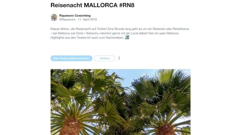 RN8 Reisenacht Mallorca