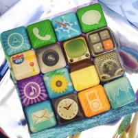 Loslassen App Icons Magnete