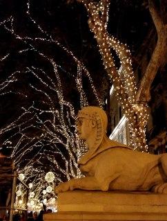 Sphinx-Statue am Passeig des Born