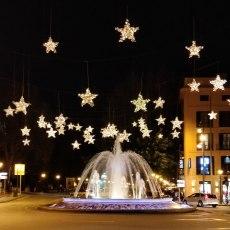 Springbrunnen mit Sternenglanz: Plaça de la Reina