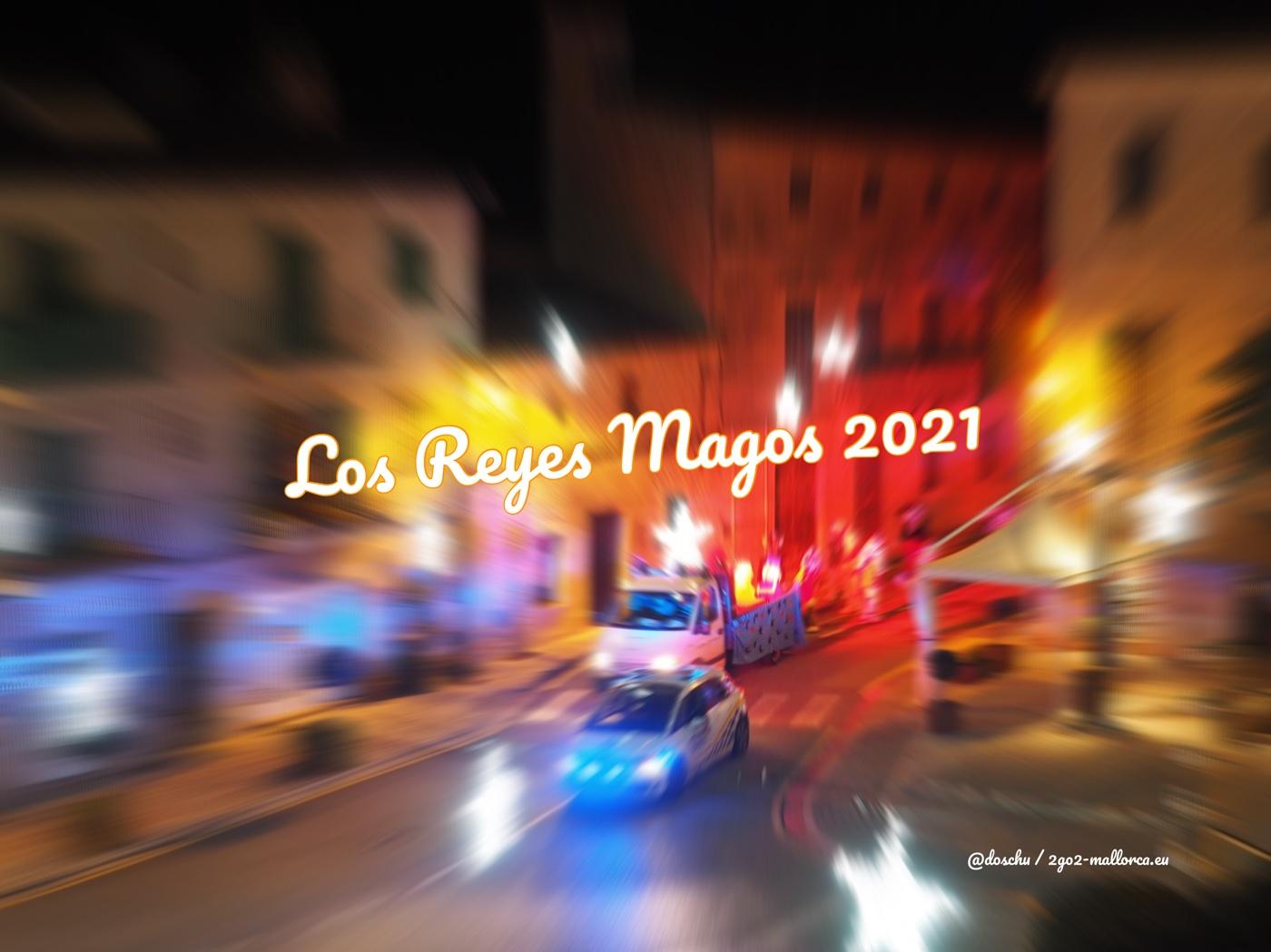 Foto vom Umzug der 3 magischen Könige in Santanyí, Mallorca - Los Reyes Magos