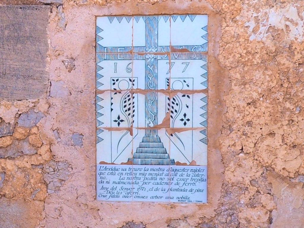 Kachelinschrift Santuari de la Consolación